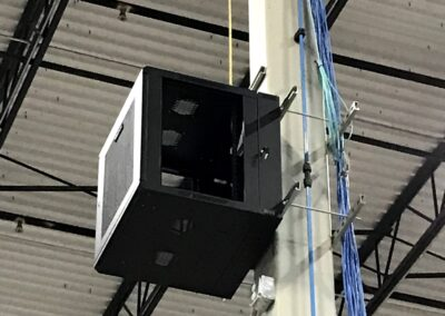 Warehouse IDF Network Cabinet on Post