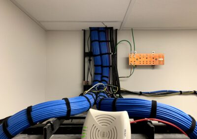CAT6 Cable Bundles on Ladder Racks